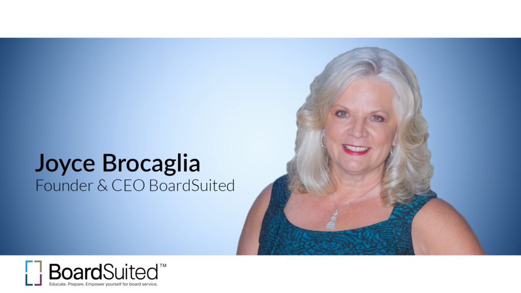 Joyce Brocaglia, Founder and CEO Boardsuited