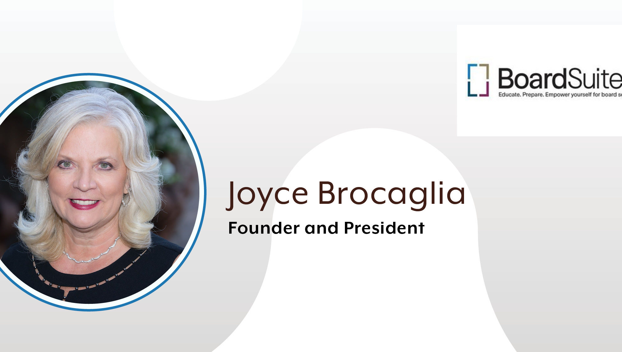 BoardSuited President Joyce Brocaglia